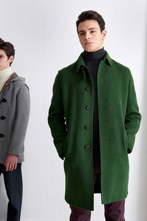 Coat in loden fabric