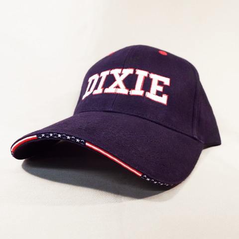 15S - Dixie Caps with Patriotic Brim Edging