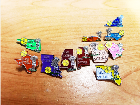 80S - Dixie Softball Pins