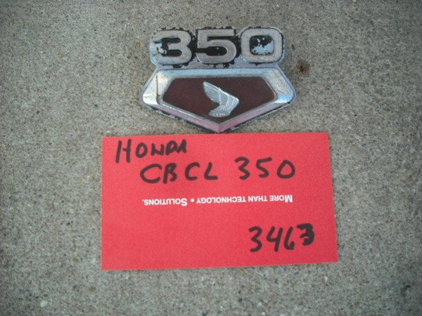 Honda CB350 left sidecover badge 3463
