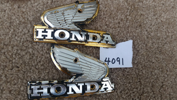 Honda  CB650 left Gas Tank Badge Pair  4091