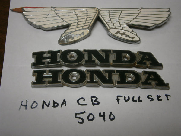 Honda CB175 CB350 Complete Gas Tank Badge Set 5040