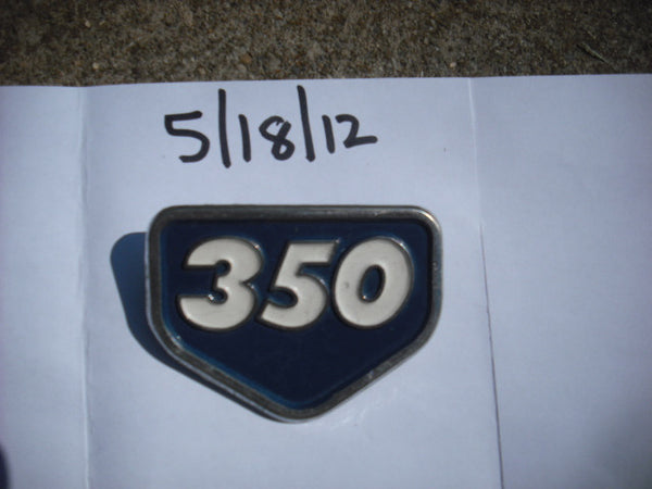 Honda CB350 CL350 Blue Sidecover Badge 4079