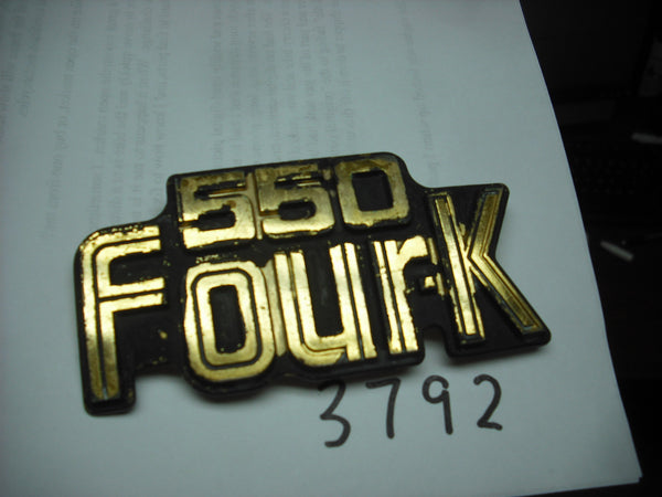 Honda CB550K Four Sidecover Badge 3792