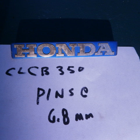 Honda CB350K0K2  CL350 Blue Gas Tank Badge 4170