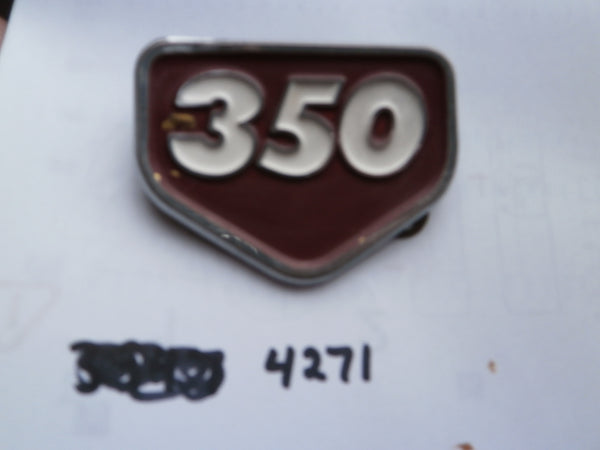 Honda CB350 Honda CL350 Red Sidecover Badge 4271