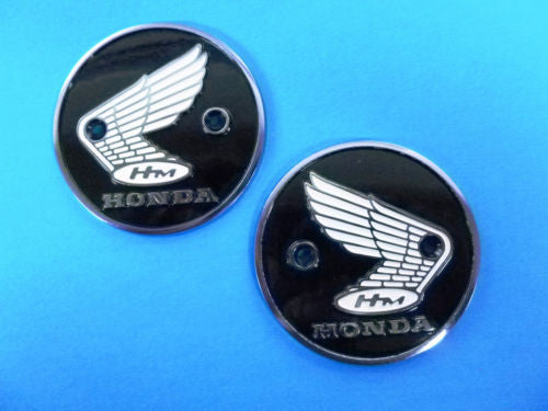Honda Super 90, S90, CL90 New Gas Metal Tank Badge Pair 4510