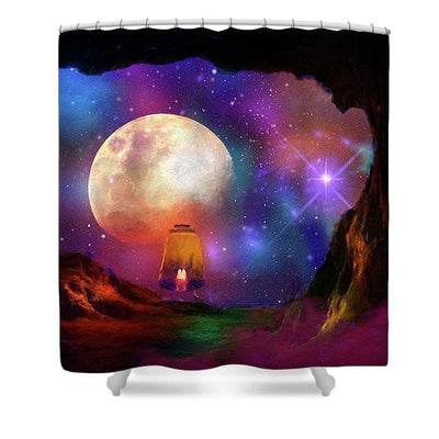 Asteroid Cave - Shower Curtain by Don White - Art Dreamer