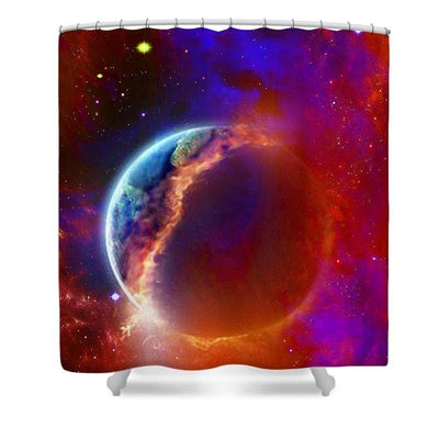 Ruptured Moon - Shower Curtain - 71 x 74 Standard - Shower Curtain