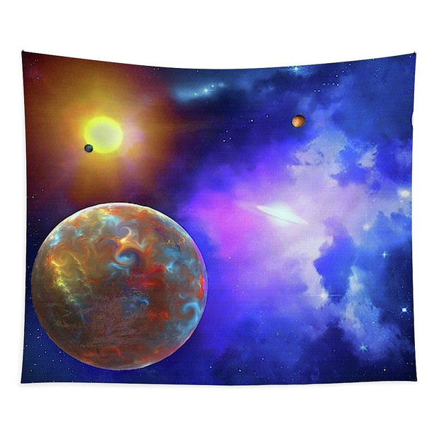 Scenic Fly-by - Tapestry - 68 x 80 - Tapestry
