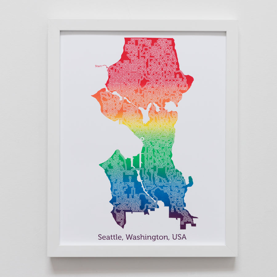 Rainbow Seattle Art | 11X14 Rainbow Print