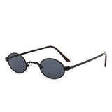 U074 Black Oval Sunglasses
