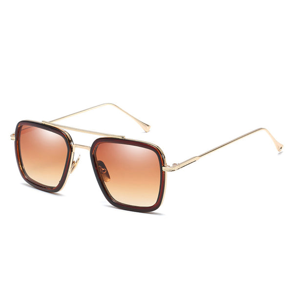 N001 Mudaser Brown Sunglasses