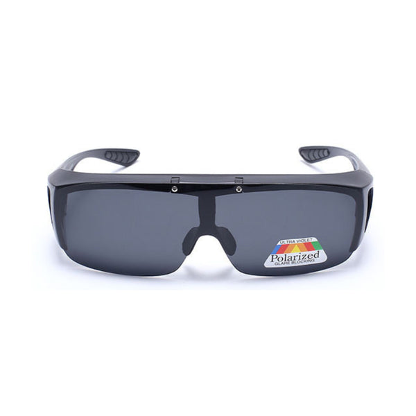 M010 Black Flip Polarized Sunglasses