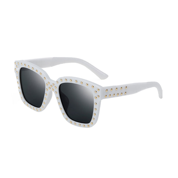 C037 White Square Sunglasses