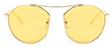 U044 Round Yellow Glasses