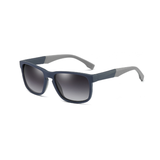 M025 Polarized Matte Blue Rectangular Sunglasses