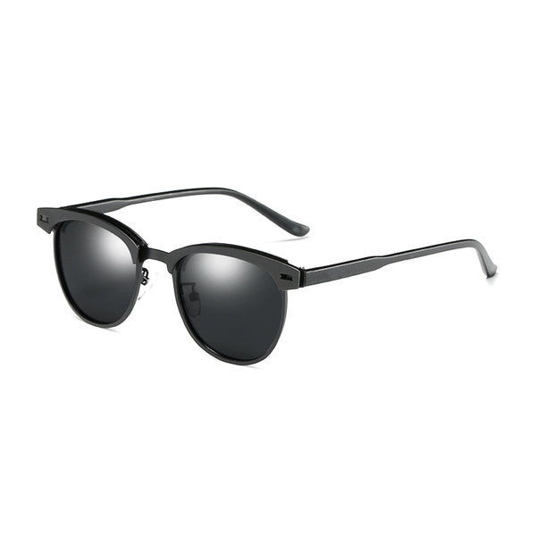 U021 Black Clubmaster Sunglasses