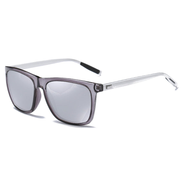 M007 Polarized Silver Square Sunglasses