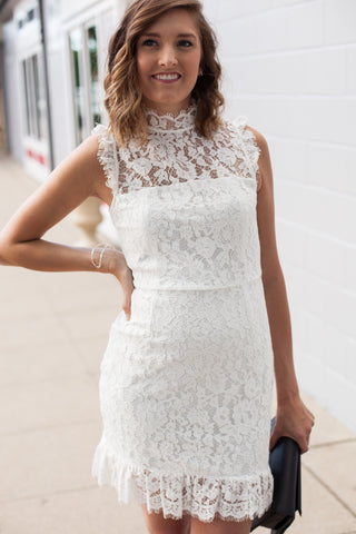 Legacy Lace Dress - White