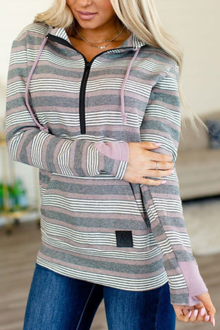 Bethany Half Zip Pullover - Lavender