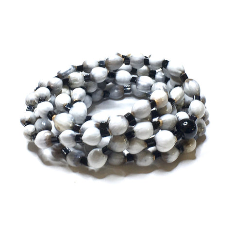Black & White Mala Wrap