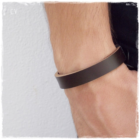 Rustic Brown Surfer Leather Bracelet