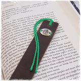 Engraved Celtic Leather Bookmark