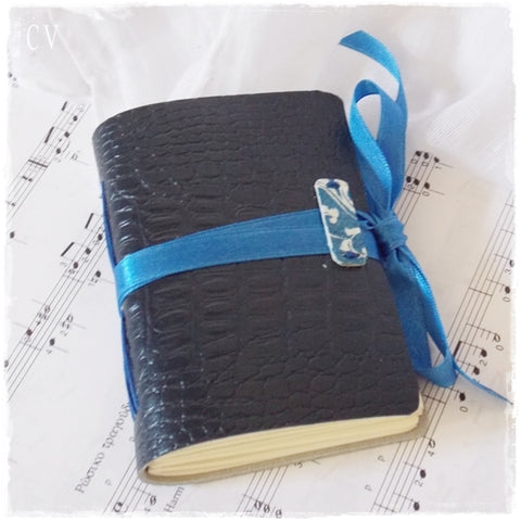 Blue Pattent Leather Journal