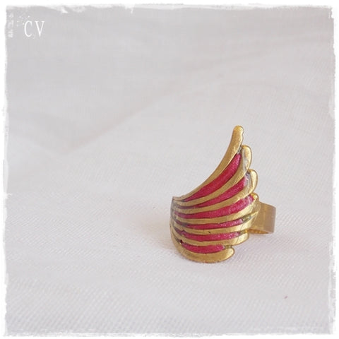 Adjustable Wing Brass Ring