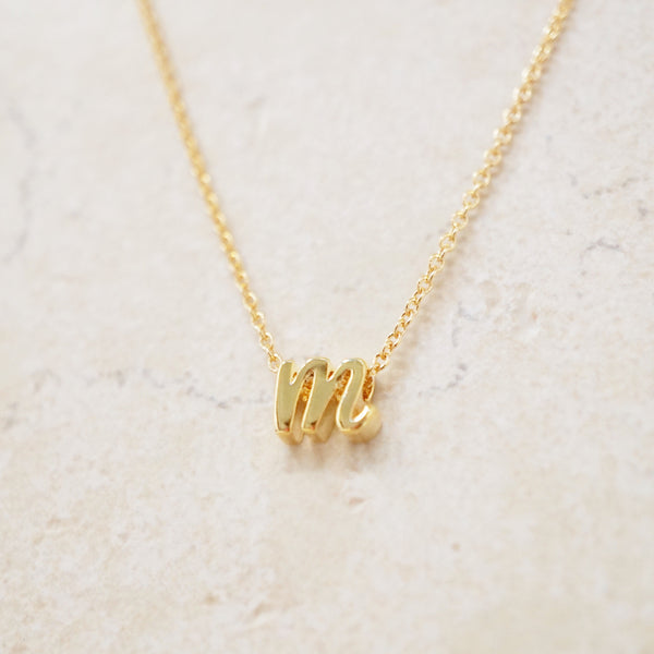 Love Letter Initial Necklace (Gold)
