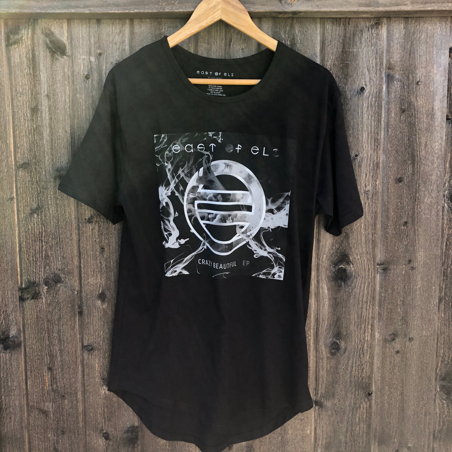 East of Eli Black Crazy Beautiful Extended Tail T-Shirt