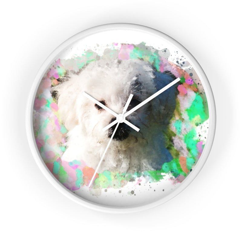 Watercolor Maltese Wall Clock - Zuzi's