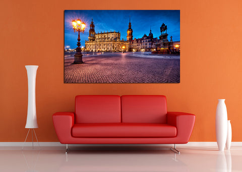 canik179 Canvas Print Stretched Germany City area night 26x42""
