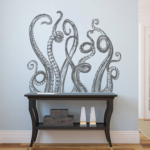 ik1225 Wall Decal Sticker octopus tentacles bathroom