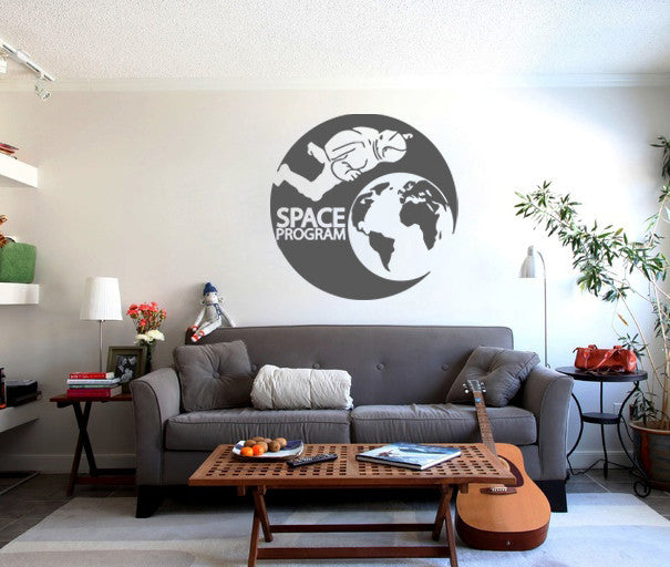ik173 Wall Decal Sticker Decor man space astronaut Earth interior kids