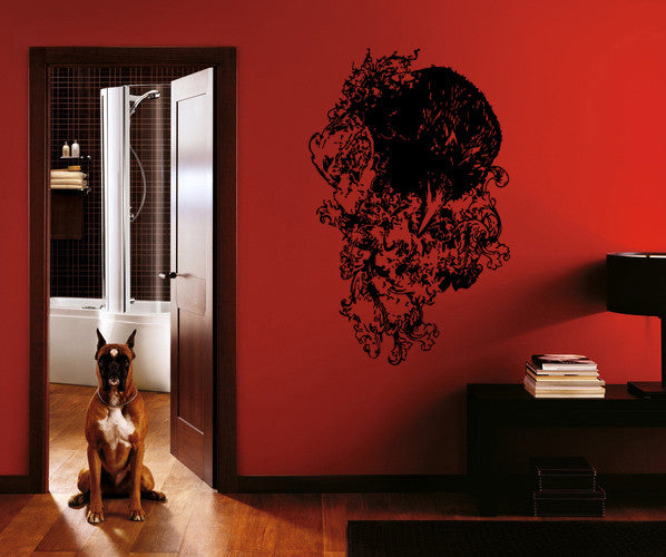 ik229 Wall Decal Sticker Decor raven bird colors interior bed
