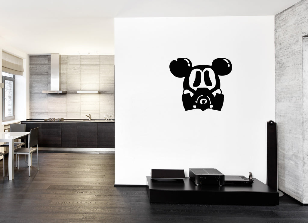 ik241 Wall Decal Sticker Decor Mickey Mouse raspiratore postapokalipsis