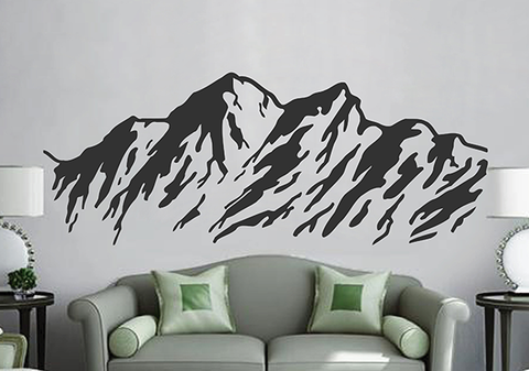 ik2916 Wall Decal Sticker beautiful mountain landscape nature living room bedroom