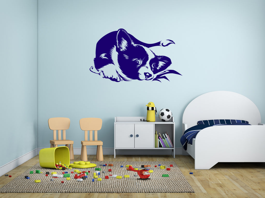 ik293 Wall Decal Sticker Decor cute puppy dog pet Chihuahua hua interior