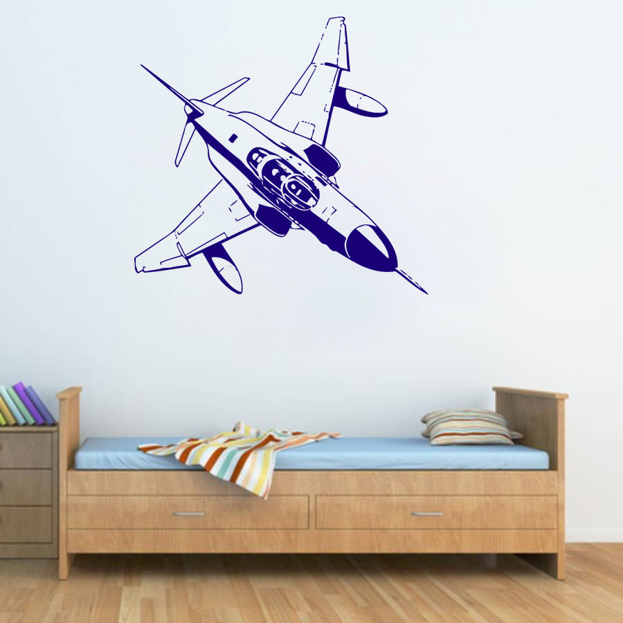 ik343 Wall Decal Sticker Decor fighter warplane war kids bedroom