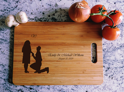 ikb639 Personalized Cutting Board lovers wedding gift anniversary