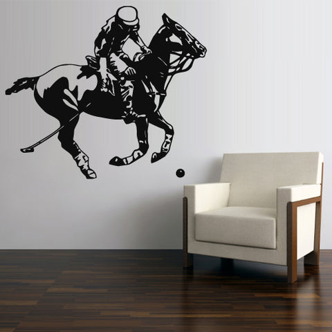 Wall Decal Decal Sticker Beautiful Horse Animal Polo Game Play Bedroom  z2774