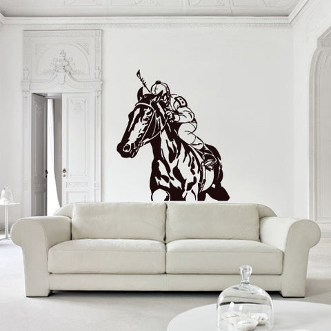 Wall Decal Decal Sticker Beautiful Horse Animal Polo Game Play Bedroom  z2780