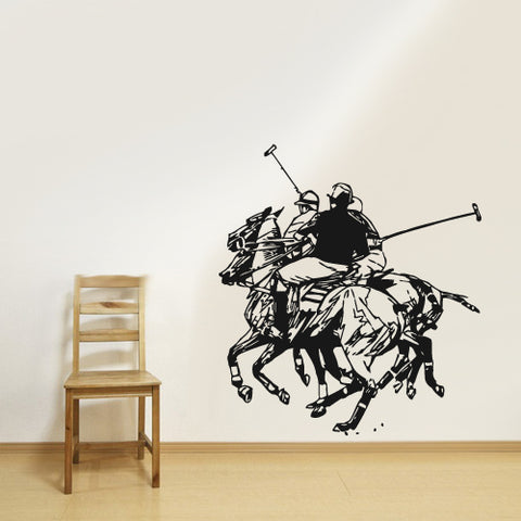 Wall Decal Decal Sticker Beautiful Horse Animal Polo Game Play Bedroom  z2809