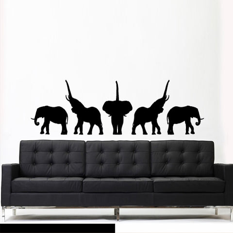 Wall Decal Decal Sticker Elephant Animals Africa Safari Dorm Bedroom  z3028
