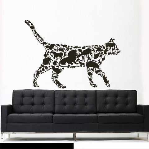 Wall Decals Vinyl Decal Sticker Animal Cat From Animals Africa Elephant  z3093