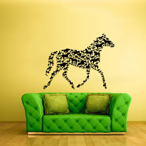 Wall Decals Vinyl Decal Sticker Animal Horse From Animals Horse Pattern  z3094