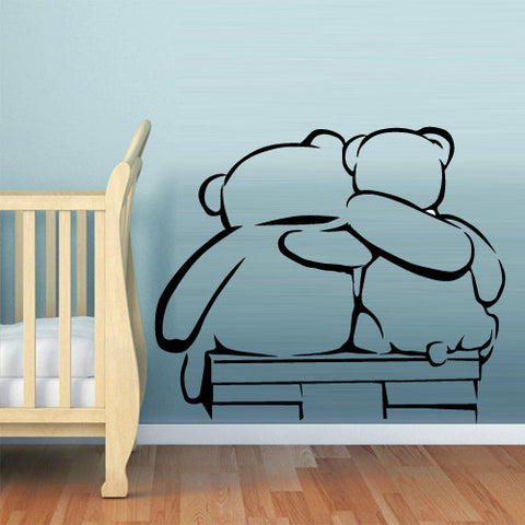 Wall Decal Vinyl Decal Sticker Decal Bears Funny Nursery Kids Baby  z546