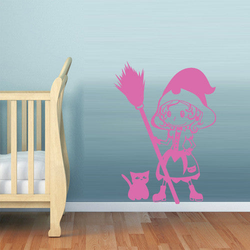 Wall Vinyl Decal Sticker Bedroom Decal Nursery Kids Baby Small Witch  z637